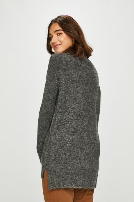 Sweter damski szary o prostym kroju