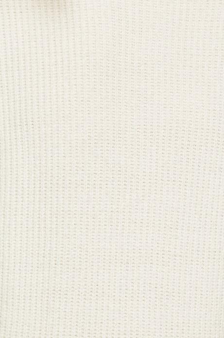 Sweter damski kremowy z półgolfem