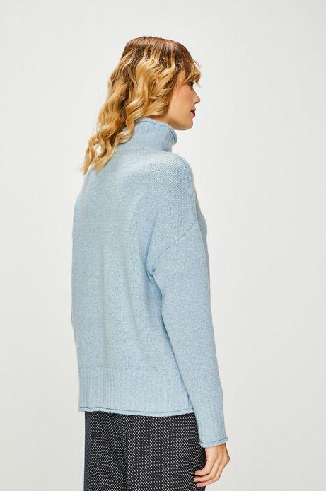 Sweter damski niebieski z półgolfem