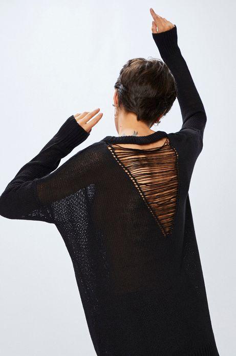 Woman's Sweter damski Rustic Indigo czarny