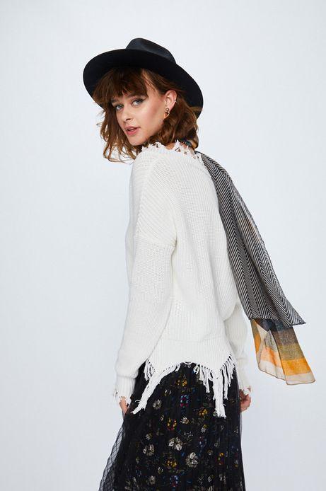 Woman's Sweter damski Secret Garden biały