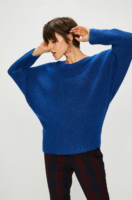 Sweter damski niebieski luźny