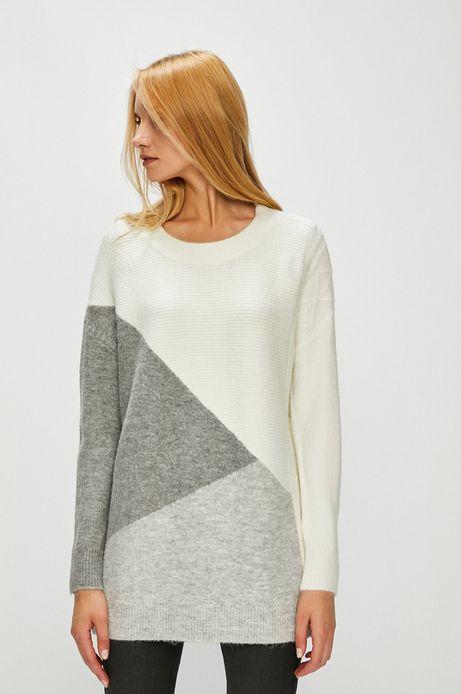 Sweter damski szary gruby ze ściągaczami
