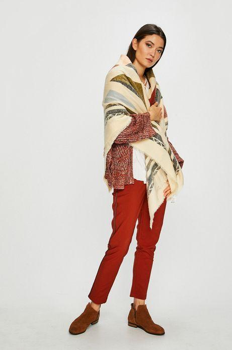 Kardigan damski luźny czerwony