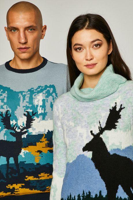 Sweter damski dzianinowy z jeleniem