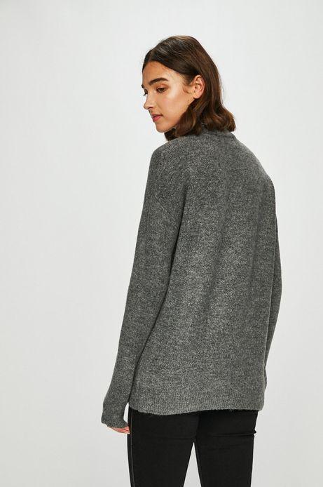 Sweter damski szary z półgolfem