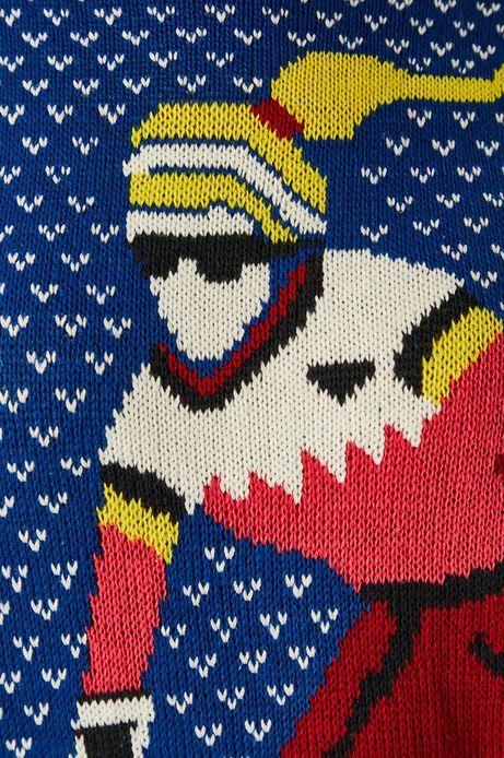 Sweter damski wzorzysty