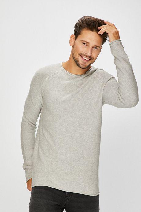 Sweter męski cienki szary