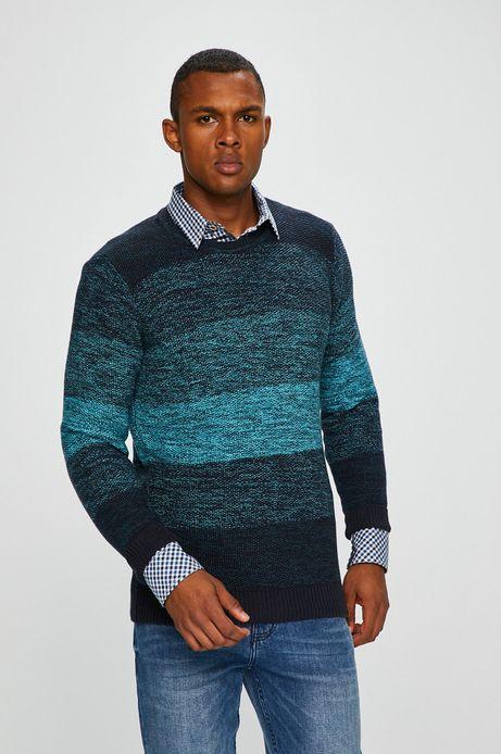 Sweter męski turkusowy cienki