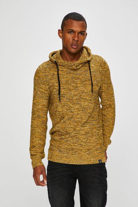 Sweter męski żółty cienki