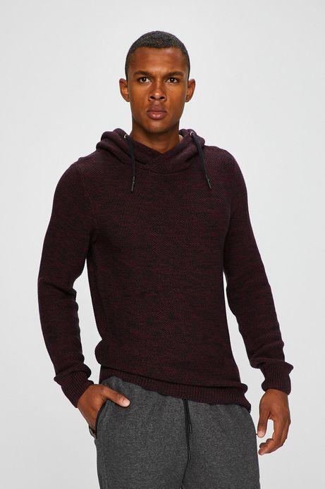 Sweter męski brązowy cienki