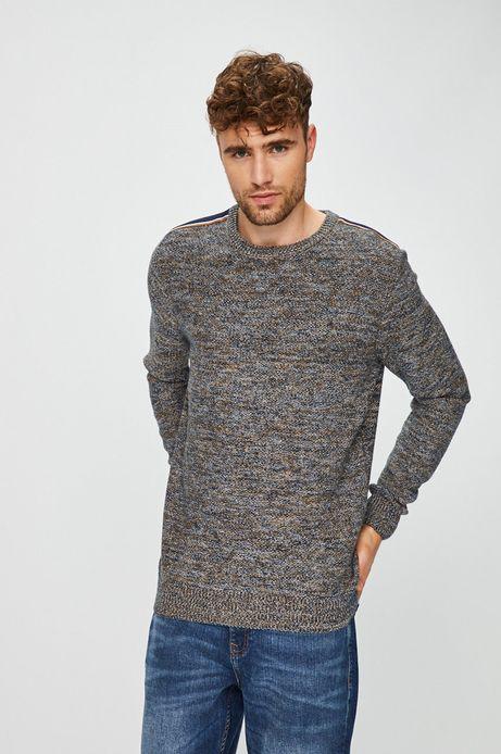 Sweter męski multicolor cienki nierozpinany