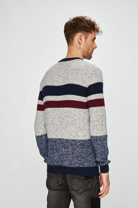 Sweter męski multicolor wykończony ściągaczami