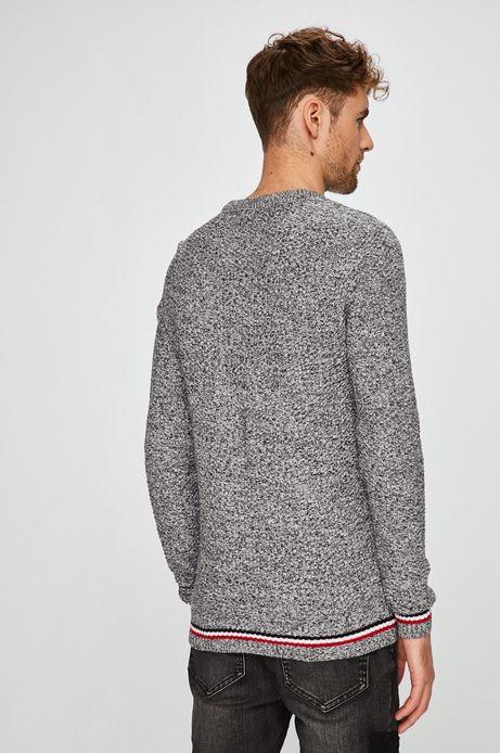 Sweter męski szary z melanżowego materiału