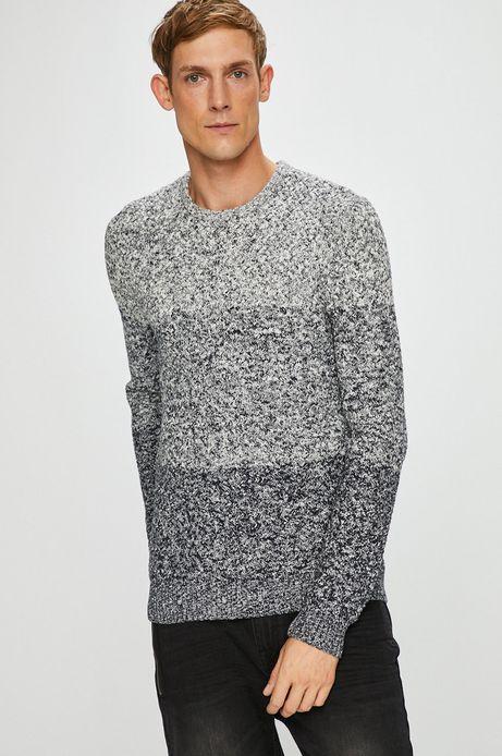 Sweter męski szary z okrągłym dekoltem
