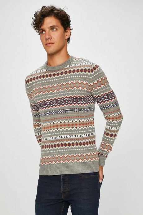 Sweter męski wzorzysty cienki