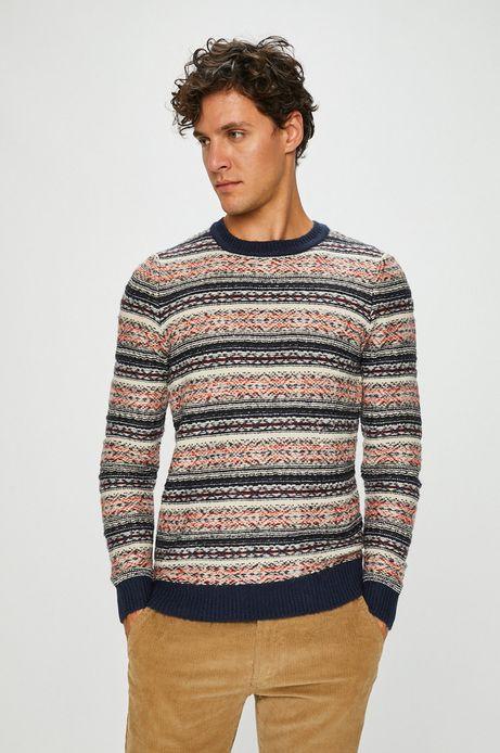 Sweter męski multicolor cienki
