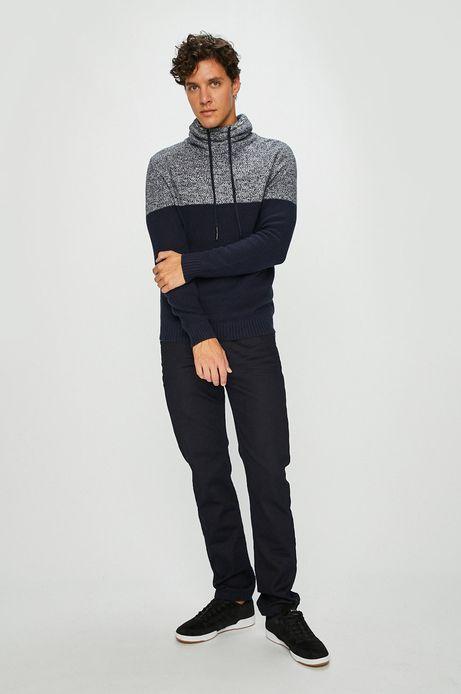 Sweter męski granatowy z golfem
