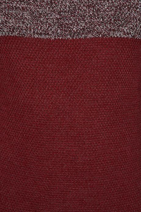 Sweter męski czerwony z golfem