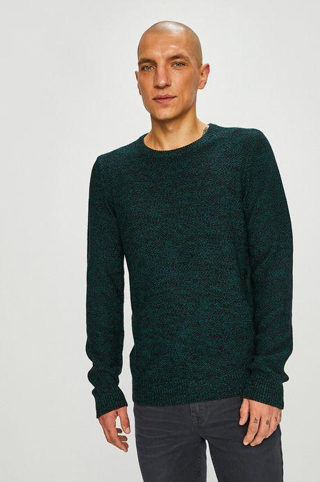 Sweter męski zielony zakończony ściągaczami