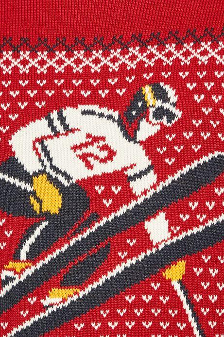Sweter męski wzorzysty