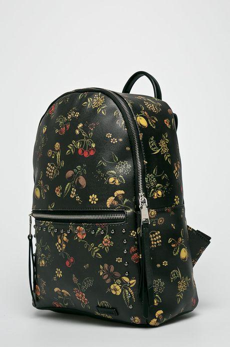 Plecak damski czarny we wzory