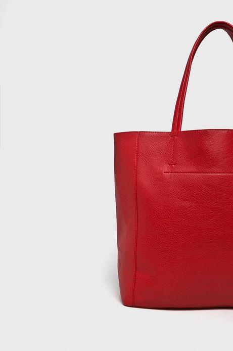 Torebka damska na ramię czerwona z ozdobnymi detalami