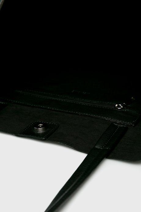Torebka damska na ramię czarna z ozdobnymi detalami