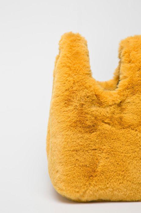 Torebka damska do noszenia w ręku żółta