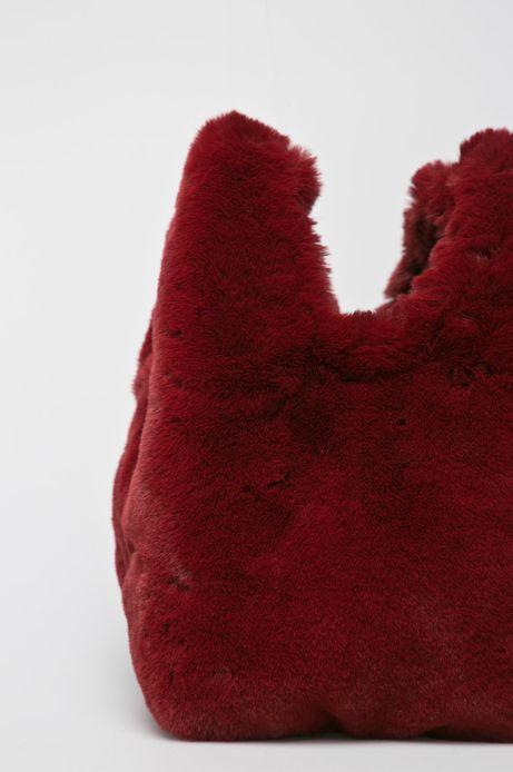 Torebka damska do noszenia w ręku czerwona