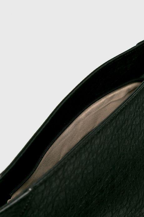 Torebka damska czarna zapinana na suwak