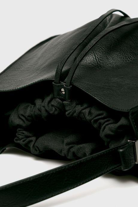 Torebka damska ściągana troczkami czarna
