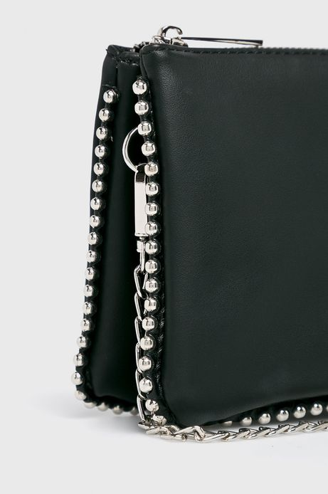 Torebka damska czarna z ozdobnymi detalami