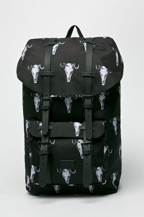 Plecak męski czarny we wzory