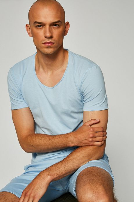 Man's T-shirt męski Monumental niebieski