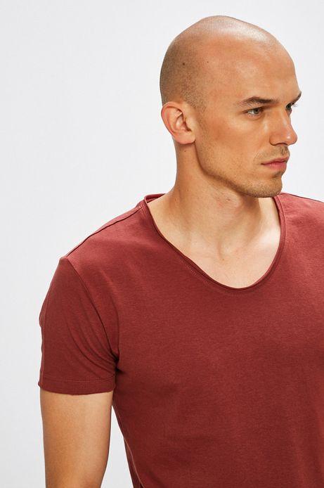 Man's T-shirt męski Monumental kasztanowy