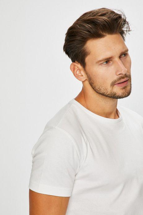 T-shirt męski biały gładki
