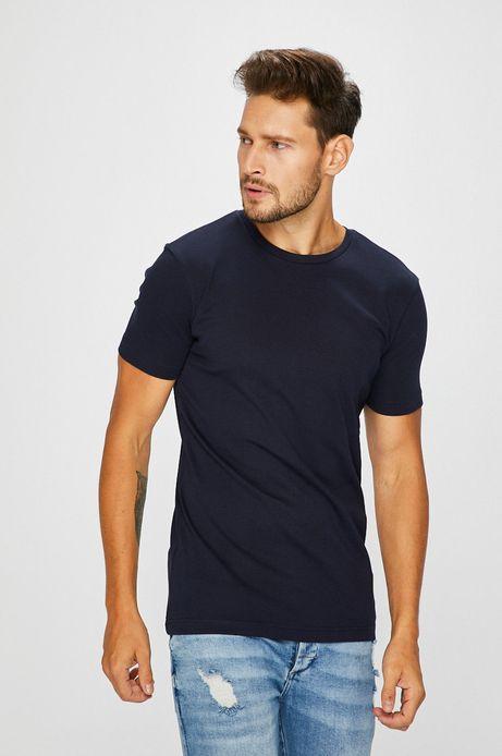 Man's T-shirt męski granatowy gładki