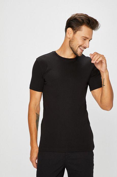 Man's T-shirt męski czarny gładki