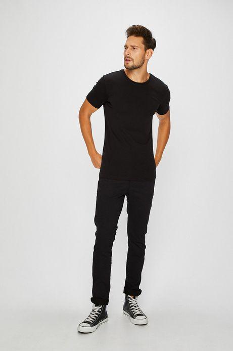 T-shirt męski czarny gładki