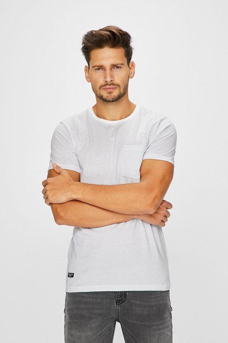 Man's T-shirt męski biały z kieszonką na piersi