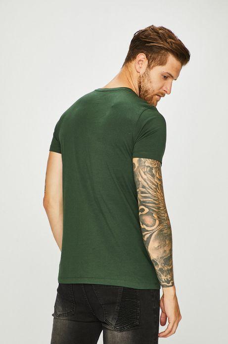 T-shirt męski gładki zielony