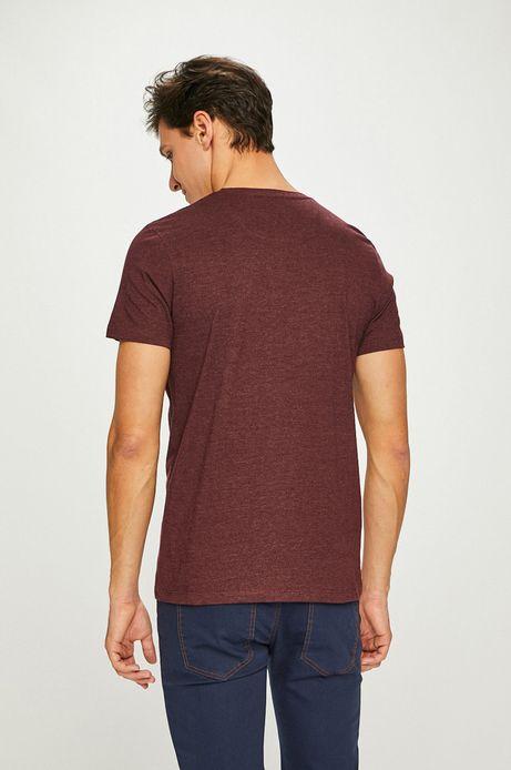 T-shirt męski brązowy z kieszonką