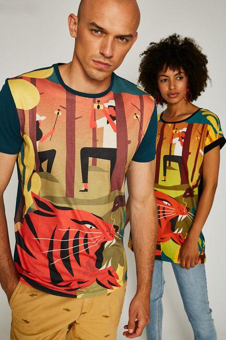 Man's T-shirt męski Dawid Ryski for Medicine turkusowy