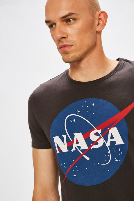 Man's T-shirt męski Nasa czarny