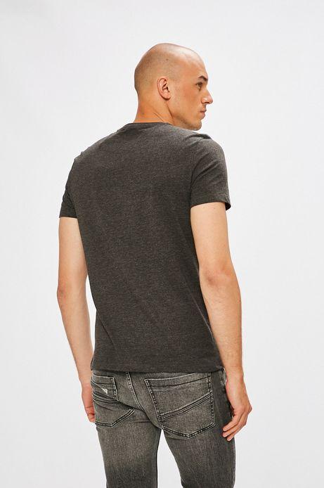 T-shirt męski szary z kieszonką na piersi