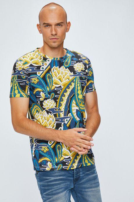 T-shirt męski z krótkim rękawem wzorzysty