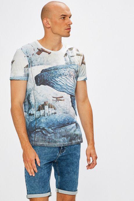 Man's T-shirt by Roch Urbaniak, Arty Dandy niebieski