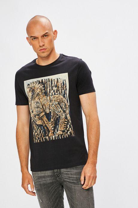 Man's T-shirt męski by Roch Urbaniak, Arty Dandy granatowy