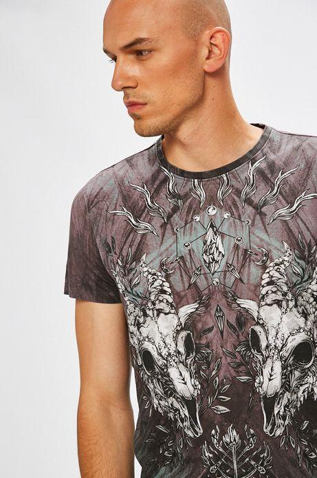 T-shirt męski z krótkim rękawem ze wzorem